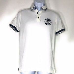 Tommy Hilfiger Men Slim Fit White Polo Size M